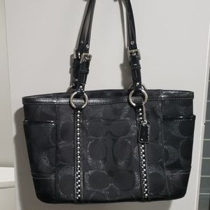 Black Coach purse with studs